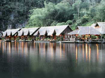 Hotel on rafts on the River Kwai, Hotel Fabrice Pattaya, Thailand